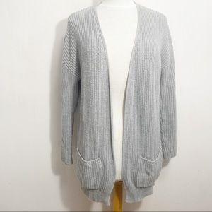 WORKSHOP cotton blend long length knit cardigan M